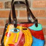 Hand Painted Handbag Purse..