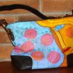 Hand Painted Handbag Purse Shoulder Bag Hobo Bag