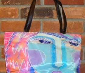 Abstract Digital Painting of a Woman Printed on Lovely Handbag Purse Shoulder Bag