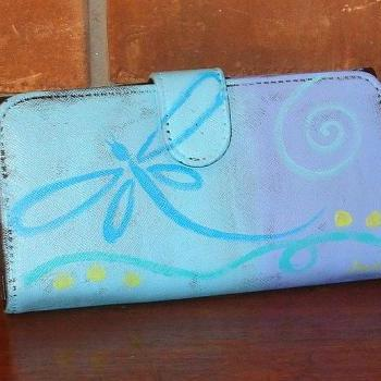 Hand Painted Dragonfly Women's Wallet